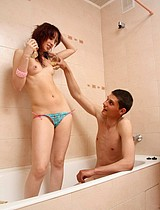 Teen Couple Having Sex In The Bathroom - Picture 3